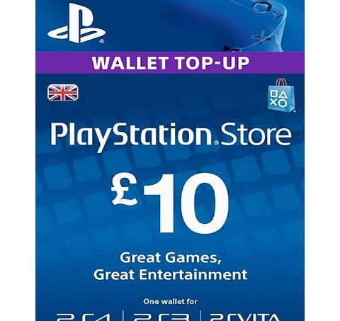 Sony PSN CARD 10 GBP WALLET TOP UP [Online Game Code]